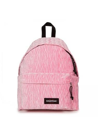 Eastpak Eastpak Padded Pak'R Velvet Pink Logolu Desenli Kadın Sırt Çantası Renkli